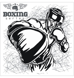 Boxing Match - Retro on grunge vector