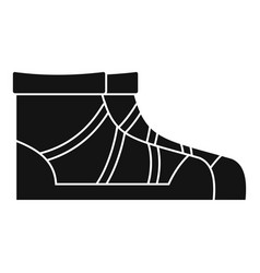 camp boots icon simple style vector image