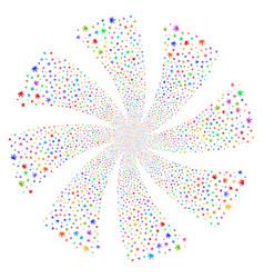 cannabis fireworks swirl rotation vector image