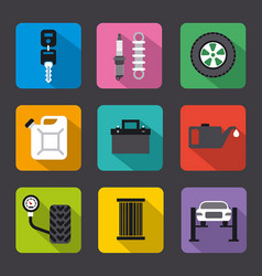 car service repair flat icons vector image