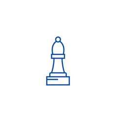 chess bishop line icon concept chess bishop flat vector image