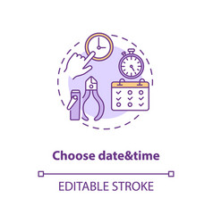 Choose date and time concept icon vector