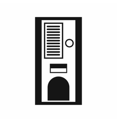 Coffee vending machine icon simple style vector
