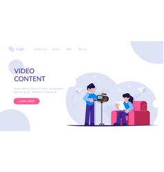Create video content for your blog people are vector