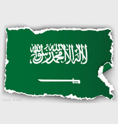 Design flag saudi arabia from torn papers with vector