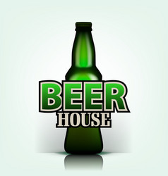 draft beer draft beer house flyer design vector image