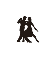 elegant latino dancers couple vector image
