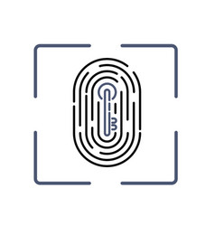 fingerprint with key pattern inside vector image