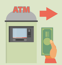 flat atm vector image