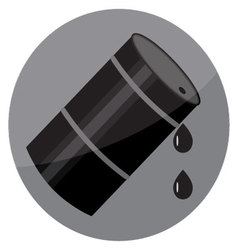 Flat icon oil barrel vector image