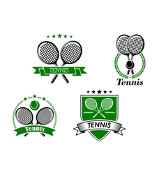 Four tennis badges and emblems vector image