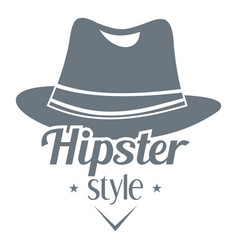 Hipster hat logo simple style vector