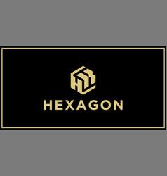 hk hexagon logo design inspiration vector image