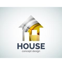 Home real estate logo template vector
