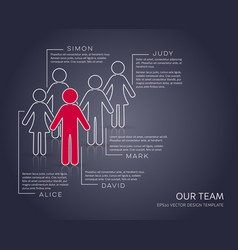 infographic our team company modern set vector image