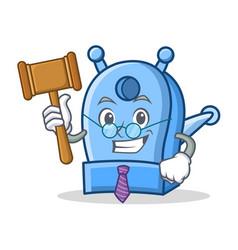 Judge pencil sharpener character cartoon vector