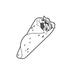 Kebab line art vector