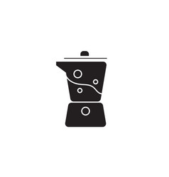kitchen blender black concept icon kitchen vector image