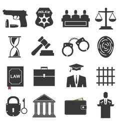 Legal law and justice icon set vector