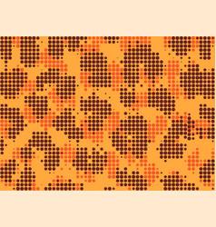 leopard pixel art style stains pattern design vector image