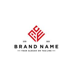 Letter ace logo design vector