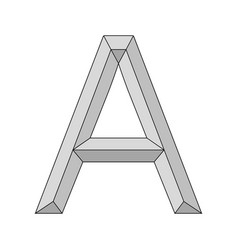 Logo three dimensional letter a capital vector