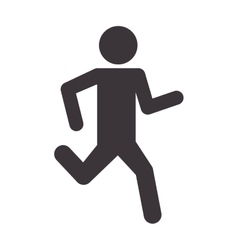 Man silhouette running sport icon vector