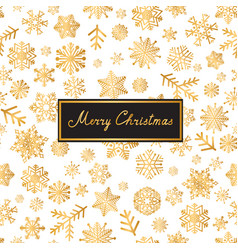 Merry christmas lettering greeting card snow vector