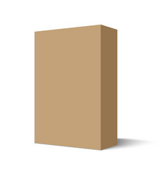 Mockup cardboard package box vector