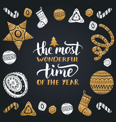most wonderful time of the year vector image