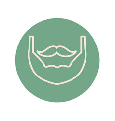 Mustache qnd beard vintage trend hipster block and vector