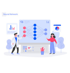 Neural network concept modern flat design vector