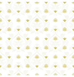 Ornamental lace floral endless texture vector image