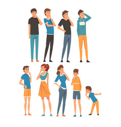 people think about something in different clothes vector image