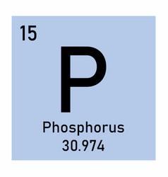 phosphorus element icon vector image