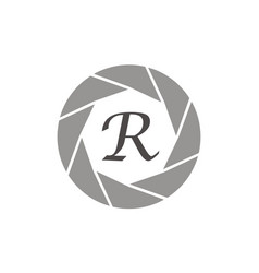 Photography service letter r vector
