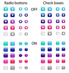 Radio and CheckBoxes vector image