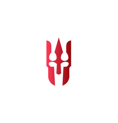 Red spartan warrior logo designs inspiration vector