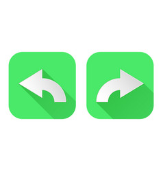 right and left arrows square green signs vector image