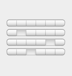 row of white buttons with some pushed buttons vector image