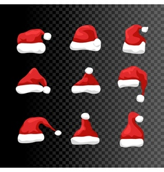 Santa hat symbol isolated Holiday red hat santa vector image