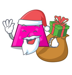 santa with gift trapezoid mascot cartoon style vector image