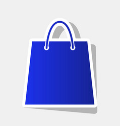 shopping bag new year bluish vector image