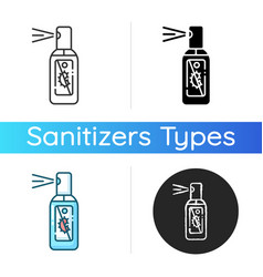 Spray hand sanitizer icon vector