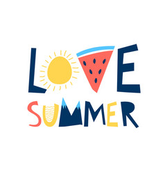 Summer icons print design with slogan vector