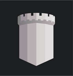 tower british castle with copy space an vector image