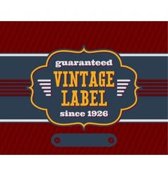 Vintage label with flat colors vector image