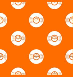 vinyl record pattern orange vector image