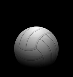 volleyball black background vector image