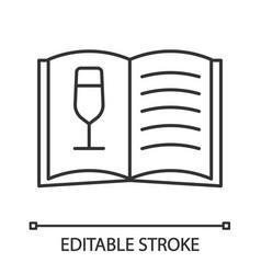 wine menu linear icon vector image